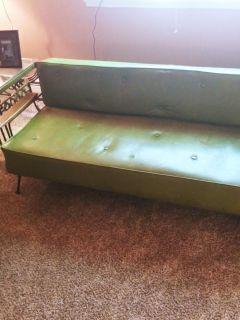 Vintage 1950's Retro lime green Daybed