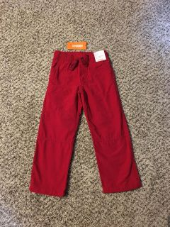 Gymboree Jersey Lined Pants. Adjustable Waist. Red. Size 5t. Brand New with Tags.