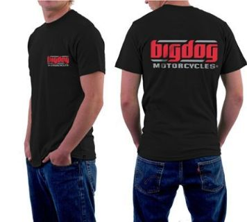 Sell BIG DOG MOTORCYCLES BLACK SHIRT SIGNATURE LOGO FRONT/BACK DESIGN K-9 PITBULL motorcycle in Lyons, Kansas, United States, for US $14.99