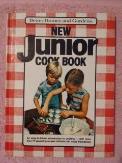 Vintage 1979 Better Homes and Gardens New Junior Hard Cover Cook Book