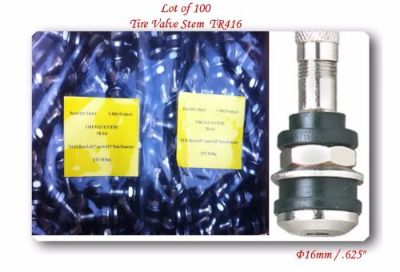 "Buy 100 KITS TR416 TIRE VALVE STEMS FITS: .453"" & .625"" RIM VALVE HOLES LONG 1 1/2"" motorcycle in El Monte, California, United States, for US $85.00"