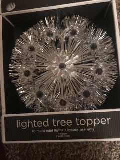 New lighted tree topper