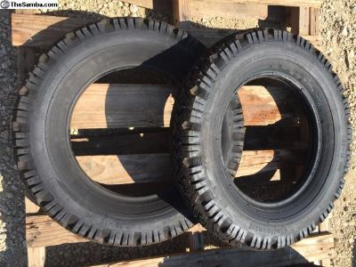 NOS stock set of 2 continental 5.60-15 tire