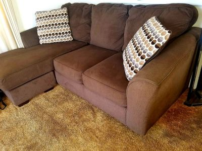 Couch with Pillows and Chaise