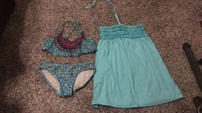 Swimsuit and coverup