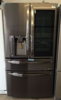 LG 23cu.ft Counter Depth/ Door in Door / French Door Fridge in Black Stainless