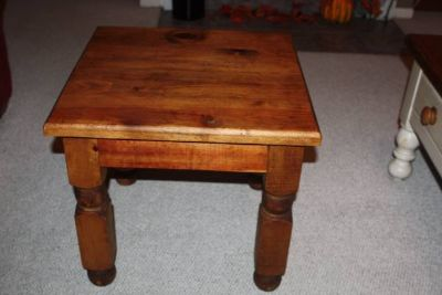 Two Rustic Side Tables