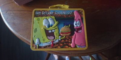 Sponge bob lunch box metal