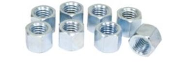HD RACING EXHAUST NUTS, SILVER ZINC PLATED