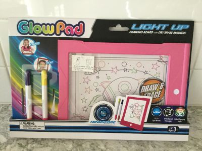 New mindscope dry erase light up drawing board