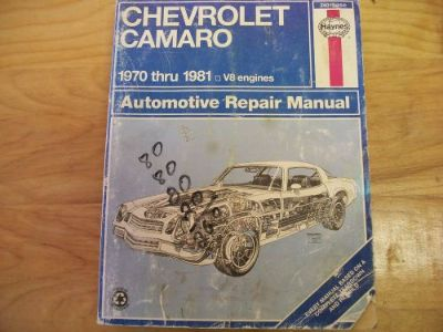 Find Haynes 1970-1981 Chevy Camaro Repair Guide V8 Engines #24015 (554) motorcycle in Golden Valley, Arizona, United States, for US $5.63