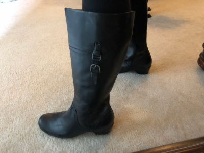 Clarks wide calf boots