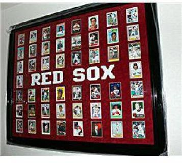 $500 Beautifully Framed Red Socks Baseball Card Collection AR4028