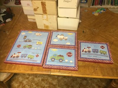 Set of pictures for small boys room