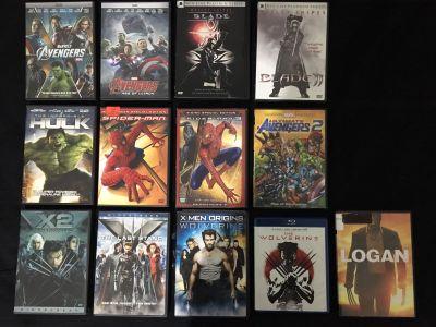 Marvel Comics Movies DVD