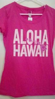 "$15 BRAND NEW Women's/Junior ""ALOHA HAWAII"" Pink T-Shirt"
