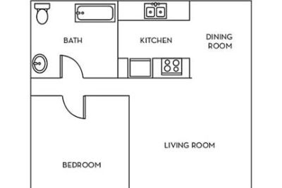 1 bedroom Apartment - Spend your weekends strolling only two blocks to the beach.