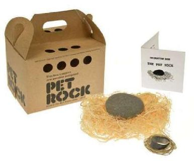 PET ROCK RETURNS Great Gag Gift Birthday Gift Idea 70s Party