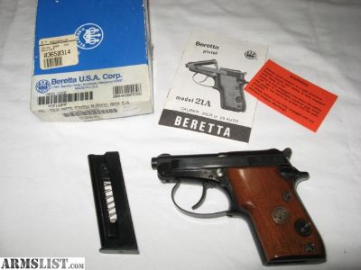 For Sale: BERETTA 21A BOBCAT IN .22LR.