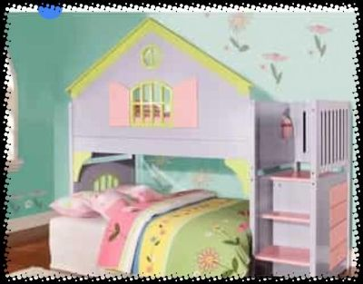 Doll house bed set