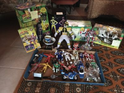 Old Power Ranger toy's