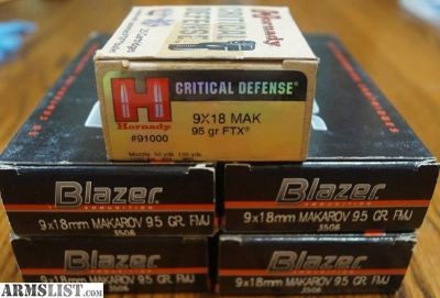 For Sale: 9 x 18 Makarov ammo, 5 boxes