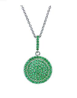 Brand new in box Sterling Silver Green Pendant Necklace