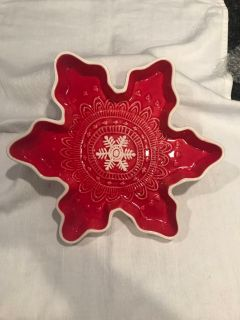 Hallmark Snowflake serving/candy dish