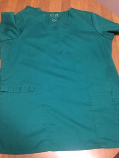 Dark green (picture is lighter than it actually is) Cherokee work wear scrub top. Size large
