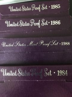 4 United States proof sets