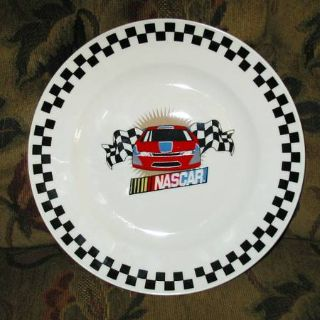 Nascar Dinner Plates Set of 4 New