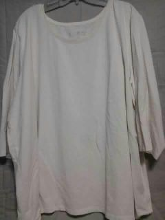 Women's Ivory shirt. Size 3X. Catherines. Meet in Angleton.