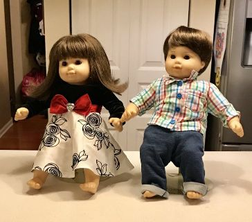 American Girl Doll Boy and Girl TWINS
