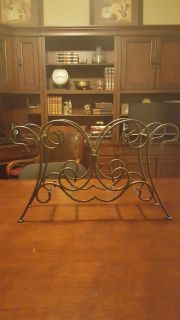 Beautiful Wrought Iron Book or Magazine Rack