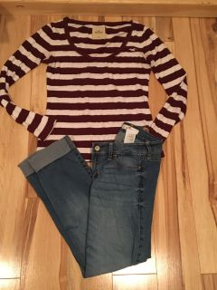 Hollister jeans & top