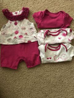 3 month outfit and matching onesies.
