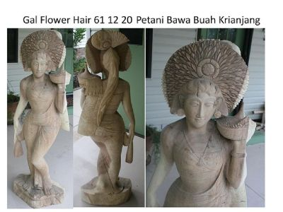 Bali life size Acacia wood female carving less than half price-3 choices