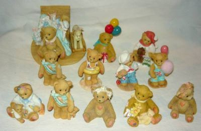 12 Cherished Teddies Figurines w/Boxes