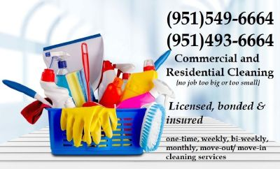HOUSE CLEANING SERVICES! LICENSED, BONDED, & INSURED!