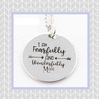 Fearful and Wonderfully Made silver pendant necklaces with 18 chain, $3 each! PERFECT for Easter or Basket stuffers!