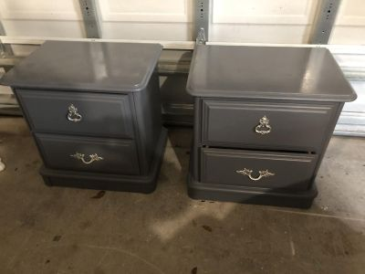 Two Beautiful Gray Henry Link Night Stands