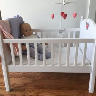 Bitty Baby doll and crib with mobile
