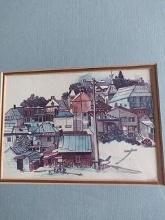 Picture of village with frame