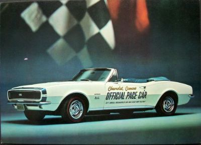 Buy 1967 Chevrolet Camaro Official Indianapolis 500 Pace Car Post Card Dealer Real motorcycle in Holts Summit, Missouri, United States, for US $15.67