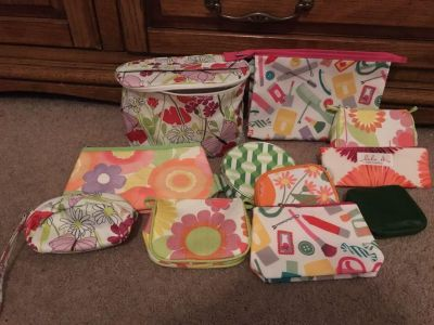 Lot of Clinique make up bags