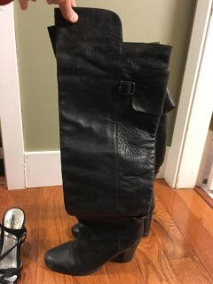 Over the knee boots, leather boots