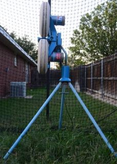 JUGS curveball pitching machine and batting cage