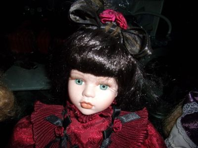 "Dressed Up PORCELAIN DOLLS Collection 15"" High"