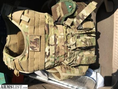 For Sale: Multicam vest with level 4 plates
