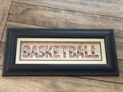 FRAMED BASKETBALL PICTURE